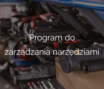 Program do zarządzania narzędziami