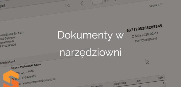 Dokumenty w narzędziowni