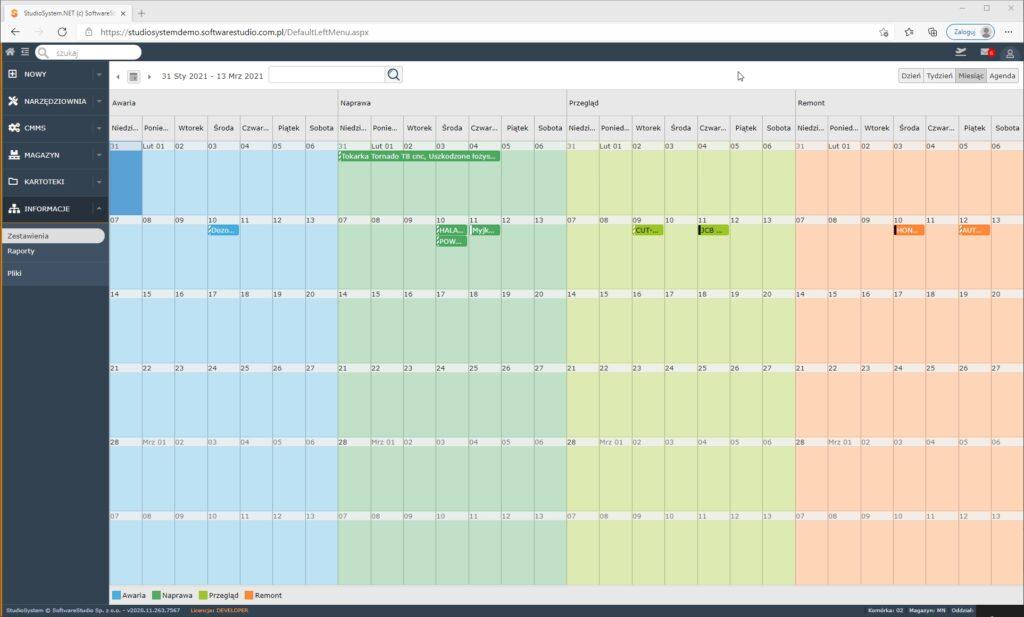 program zarządzanie narzędziownią Za pomocą program w narzędziowni możesz uprawniać procesy w narzędziowni.